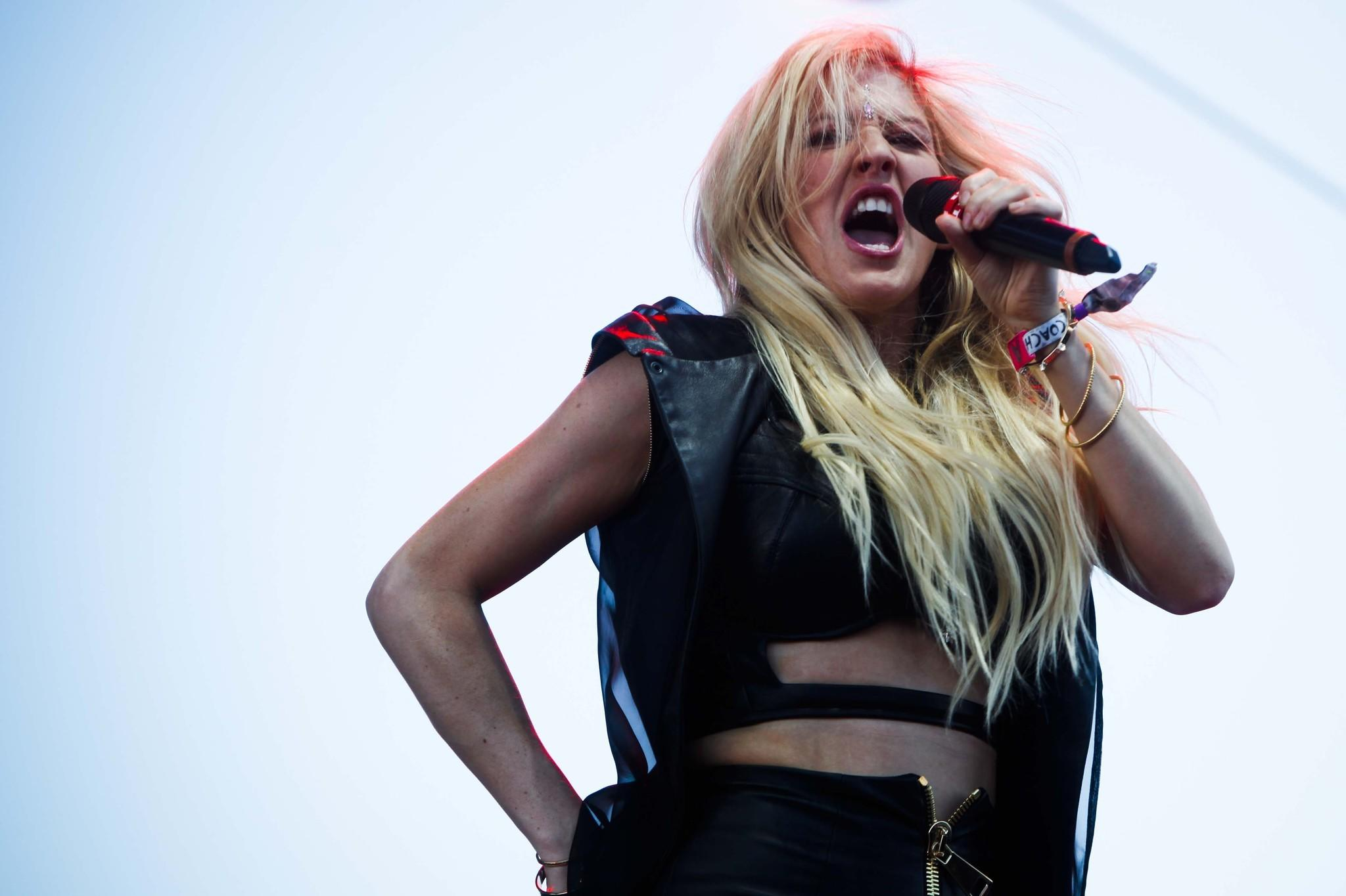 Ellie Goulding performs on the main stage at the Coachella Valley Music and Arts Festival in Indio on Friday.