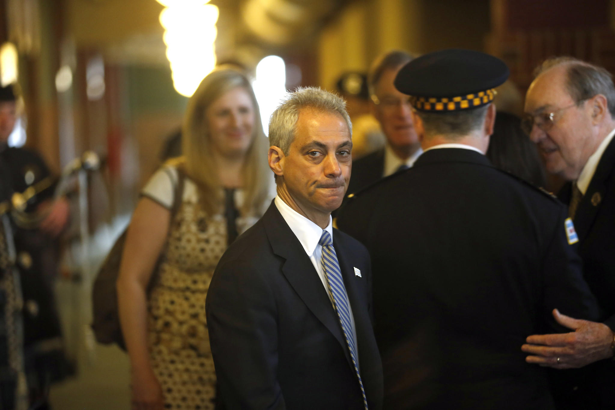 Mayor Rahm Emanuel attends the Chicago police department's graduation and promotion ceremony.