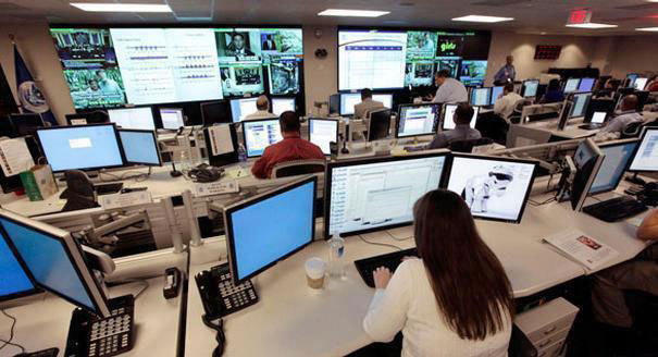Cybersecurity centers like this one are working hard to detect data breaches.