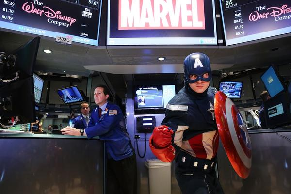 Captain America at the NYSE