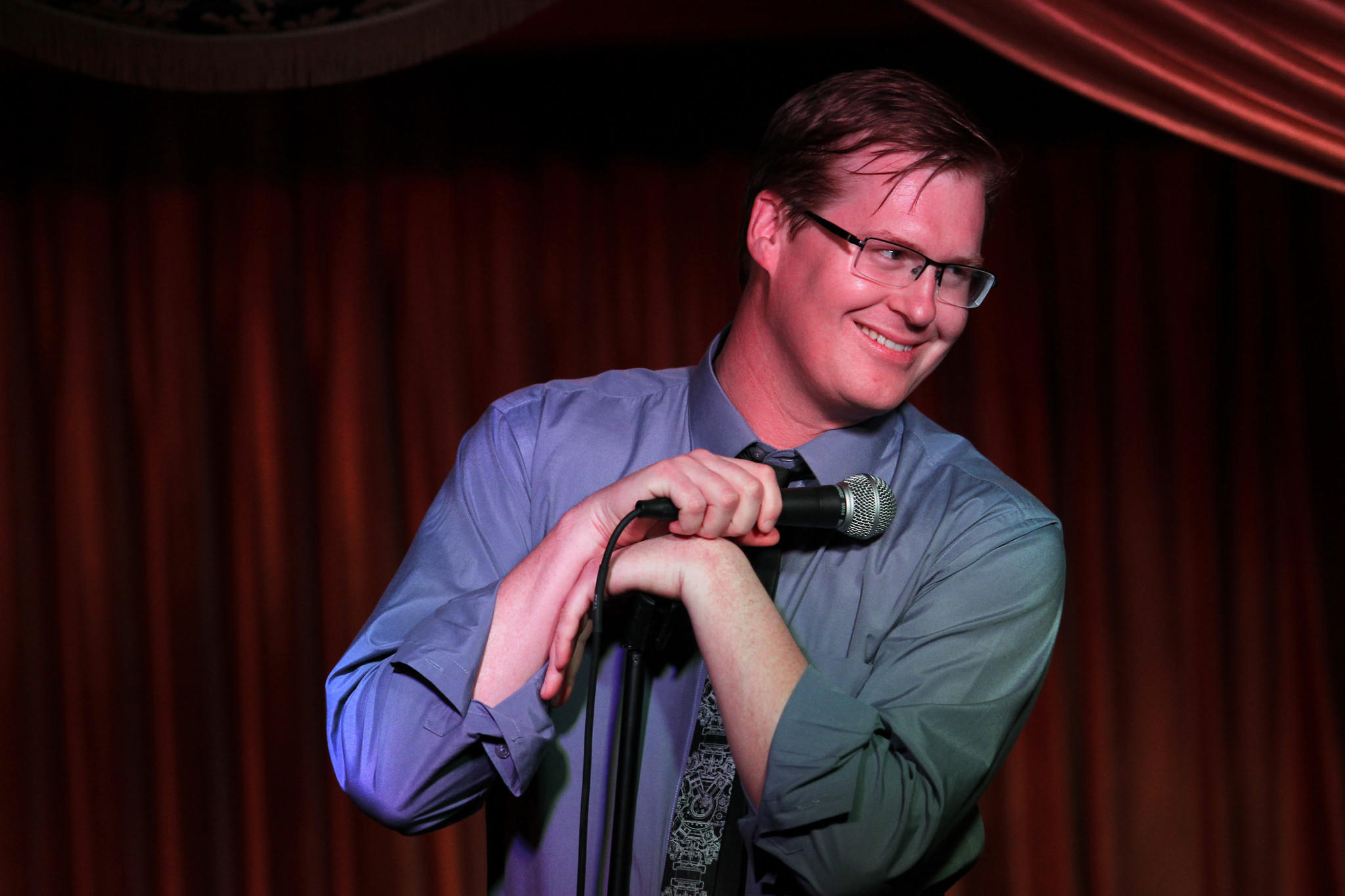 """Comedian Kurt Braunohler co-hosts a weekly show called """"Hot Tub with Kristen Schaal"""" at The Virgil on Monday evenings."""