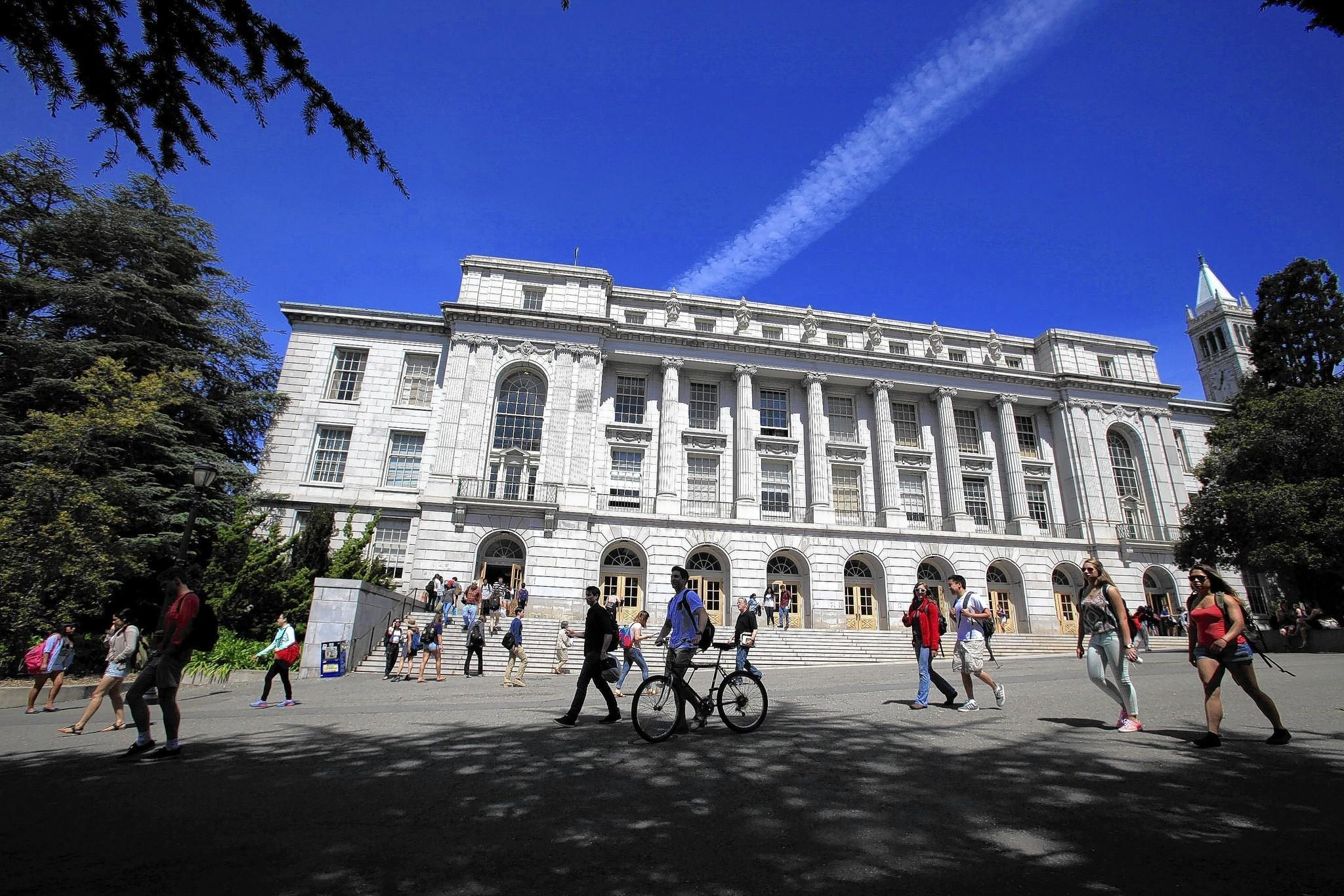 Shown is Wheeler Hall at UC Berkeley, where 18.8% of applicants from California were accepted.
