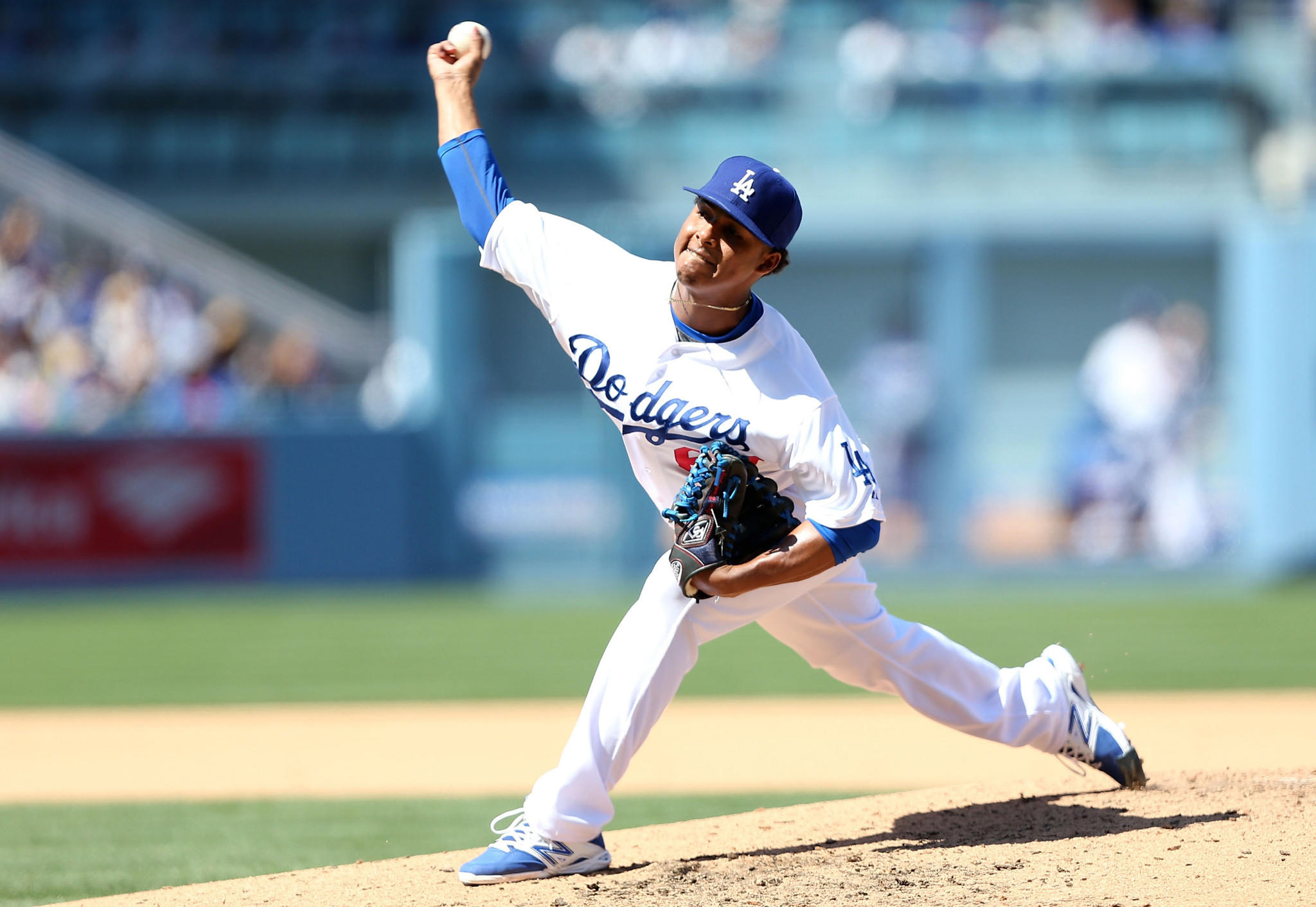 The Dodgers recalled reliever Jose Dominguez from triple-A Albuquerque on Monday.