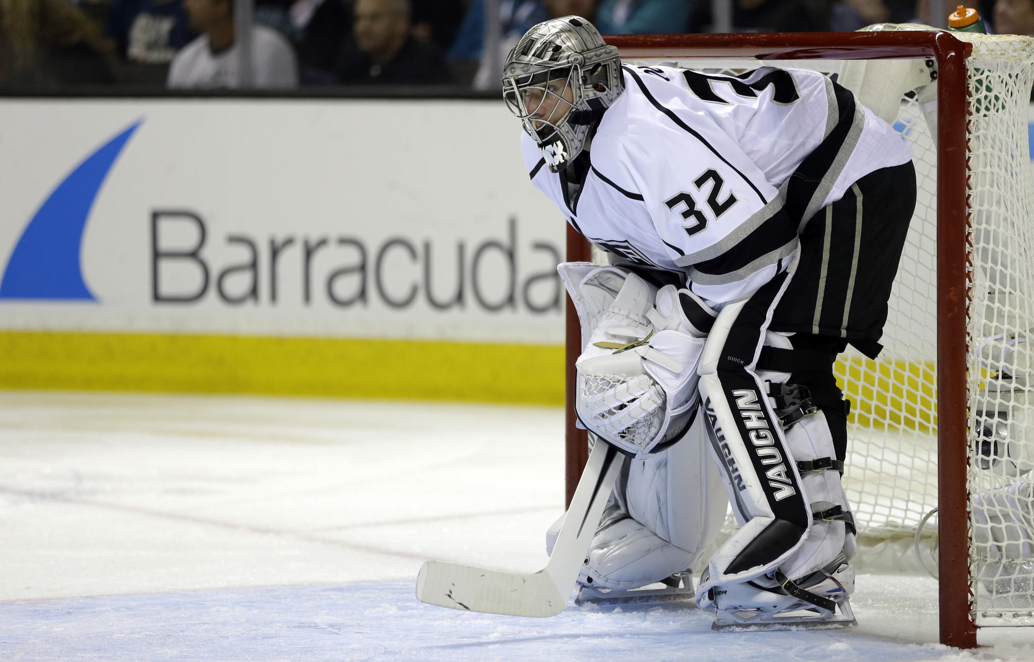 Kings goalie Jonathan Quick has struggled in the team's first two playoff games against the San Jose Sharks.