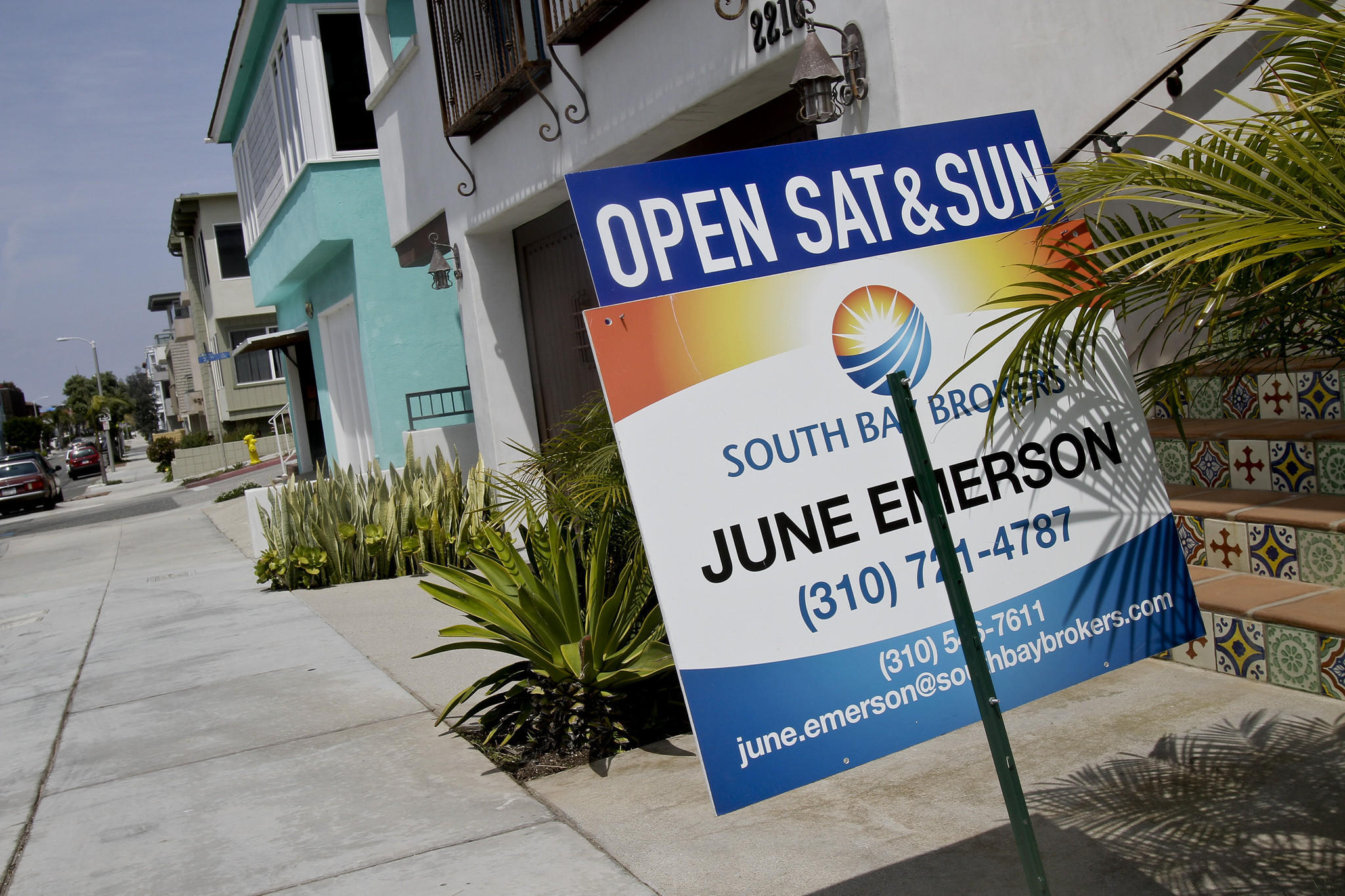 An open house in Manhattan Beach. Sales of previously owned homes across the U.S. slipped slightly in March.