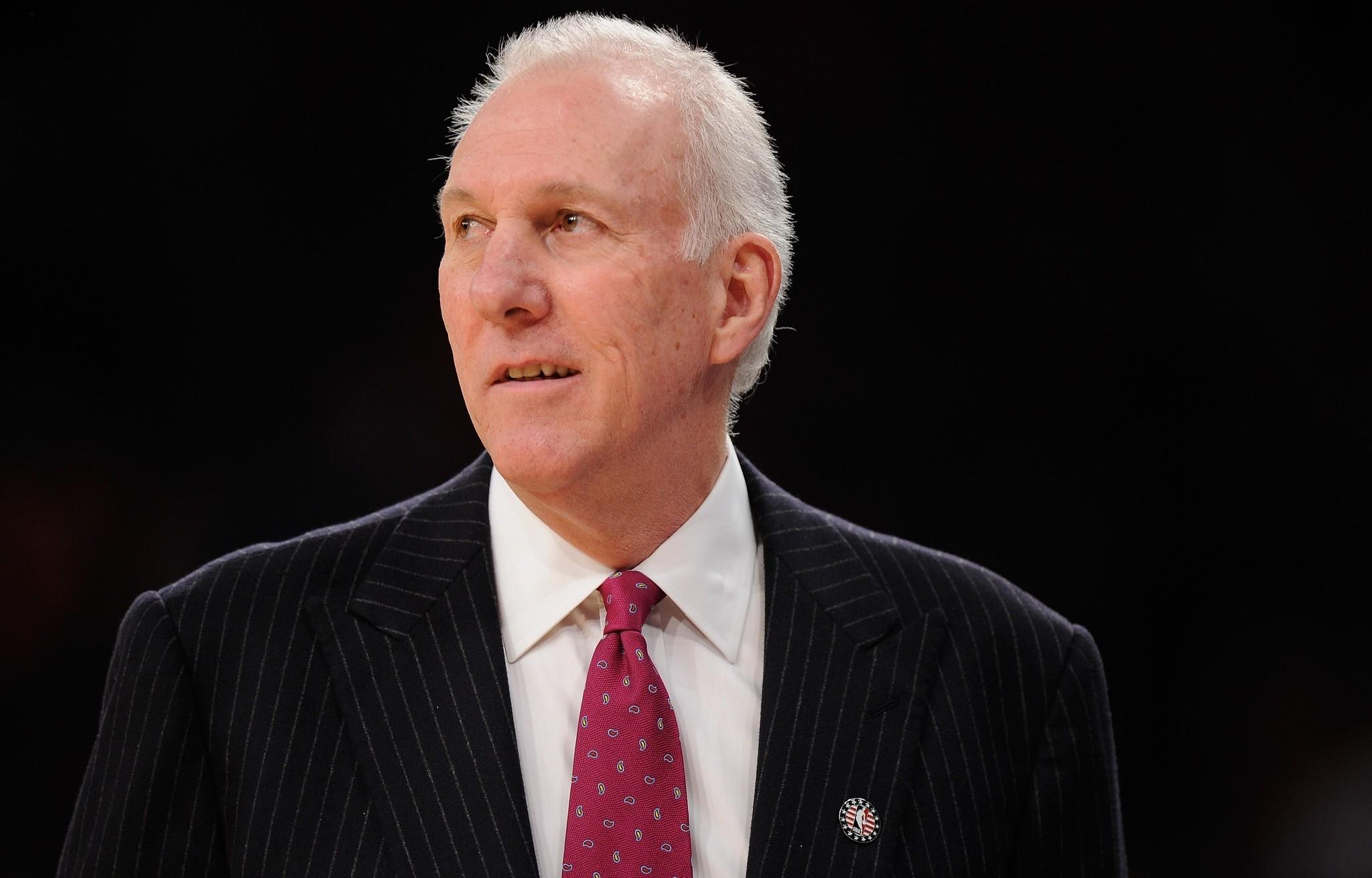 San Antonio's Gregg Popovich has been named NBA coach of the year for the third time.