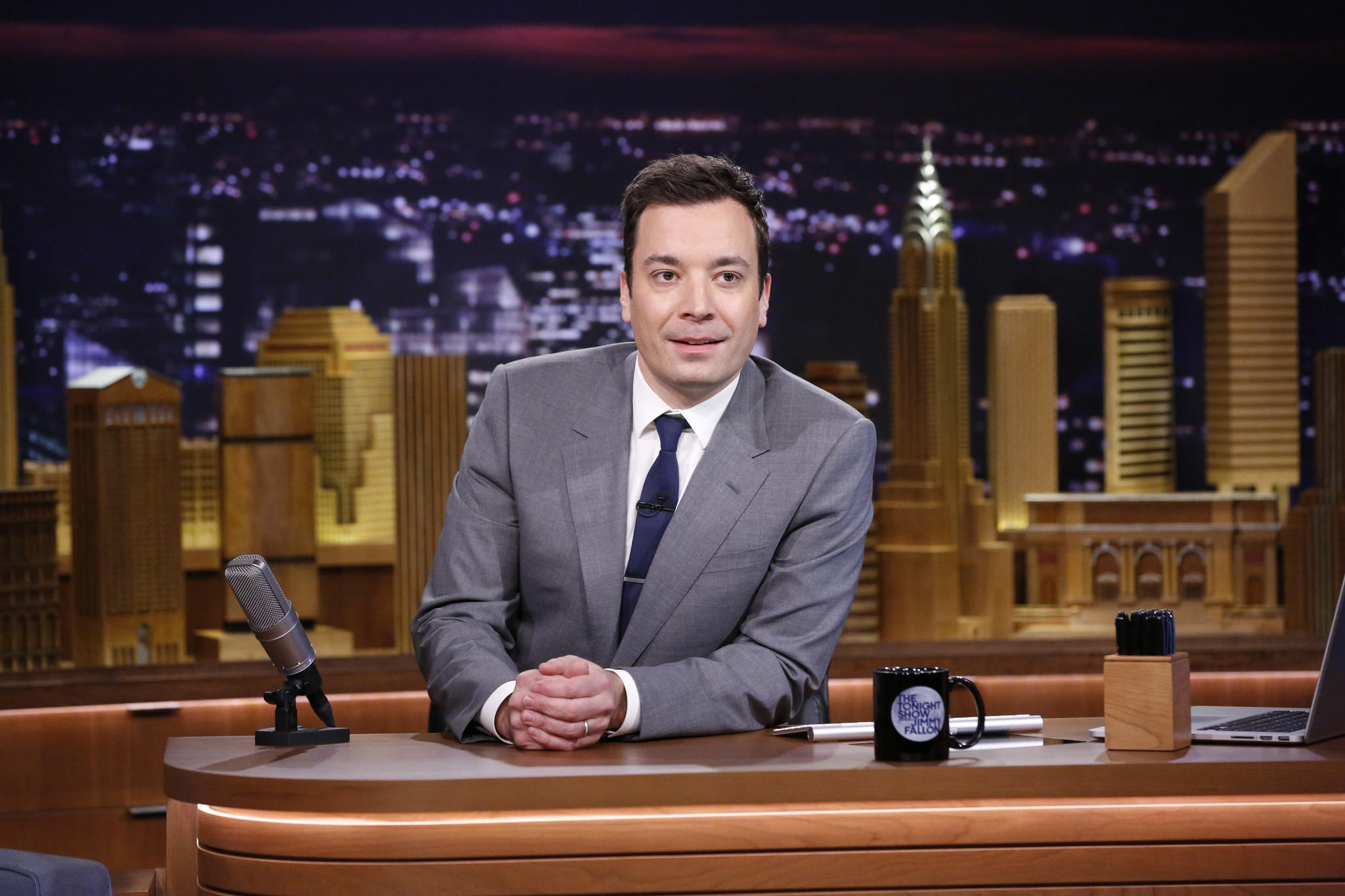"NBCUniversal saw its first-quarter 2014 revenue increase 28%, in large part because of advertising sales for the Winter Olympics and the beginning of Jimmy Fallon's tenure at ""The Tonight Show."" Fallon is pictured here during his first ""Tonight Show"" appearance in New York."