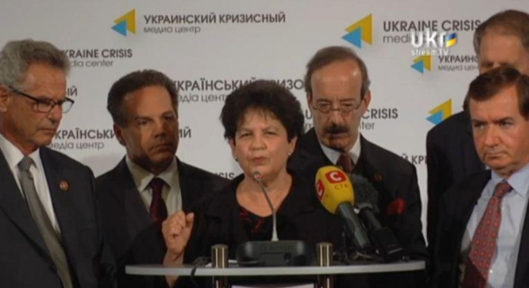 U.S. Rep. Lois Frankel at news conference on the Ukraine in the Ukraine.