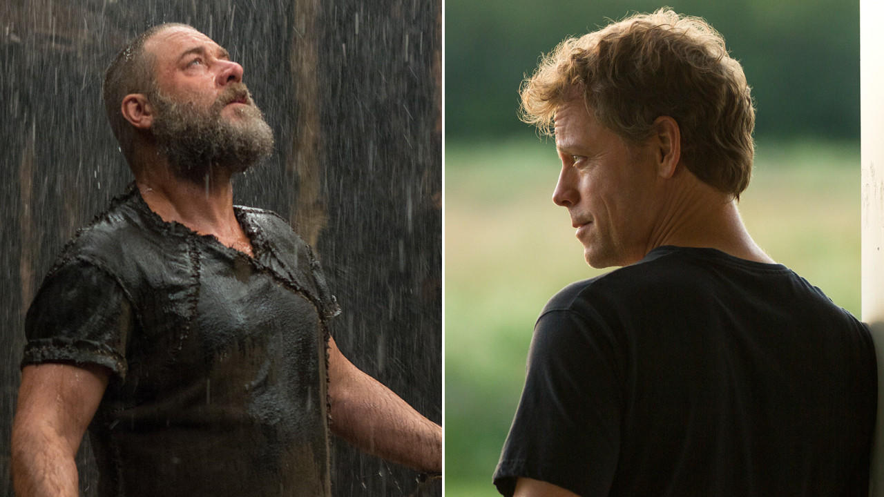 "Russell Crowe, left, in ""Noah,"" and Greg Kinnear in ""Heaven Is for Real."""