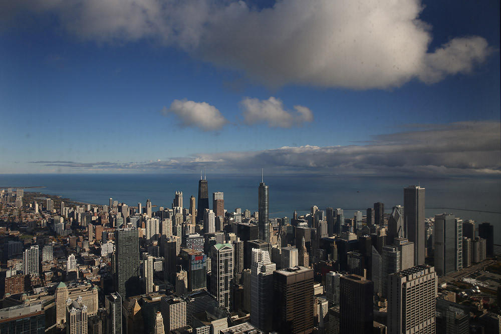 A view of Chicago from the 103rd floor of the Willis Tower in 2013.