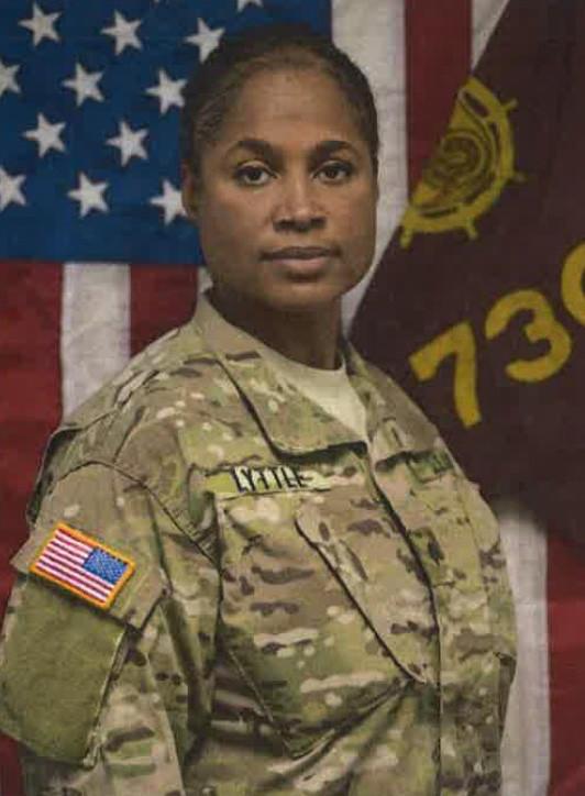 Army Reserve Spc. Lorna Lyttle.