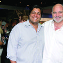 "Dev Motwani, left, and Albert Miniaci partook in the array of wine samples at the 19th annual ""Bank of America Wine, Spirits and Culinary Celebration,"" which took place at the Museum of Discovery and Science. The event raised more than $175,000 with proceeds benefiting the museum."