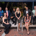 "Dr. Lisa Learn, left, Teddy Talbert, Rachel Denosky, Henry Pisano, Pablo Malco, Cheri Moyle, Axel Soto of AutoNation, Chelsea Roth, Vance Vlasek and Kathleen Lowe prepare to heat up the dance floor at the sixth annual ""Dancing with the Stars of Broward,"" to take place April 26."