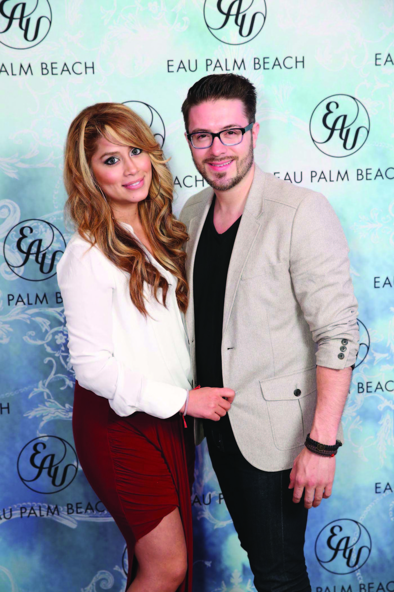 Society Scene photos - Leyicet Gokey, left, and Danny Gokey came out to support an evening of music hosted by Eau Palm Beach Resort & Spa. The concert benefited Agape International Missions (AIM), which rescues children from sex trafficking.
