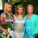 Paris Hilton, left, Dr. Robin Ganzert and Lois Pope looked classic in spring colors for the American Humane Association's gala luncheon at The Mar-a-Lago Club in Palm Beach.