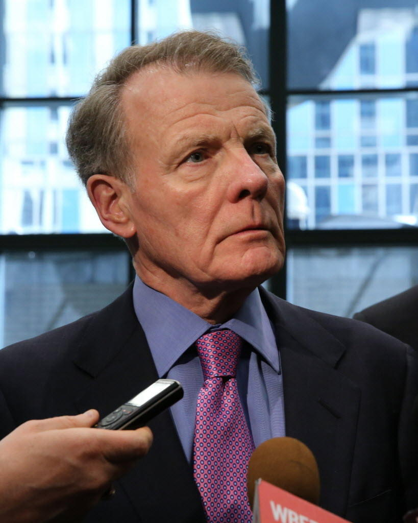 House Speaker Michael Madigan, seen here last week, was re-elected to a fifth term as Illinois Democratic chairman today.