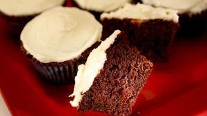Hotel del Coronado's red velvet cupcakes