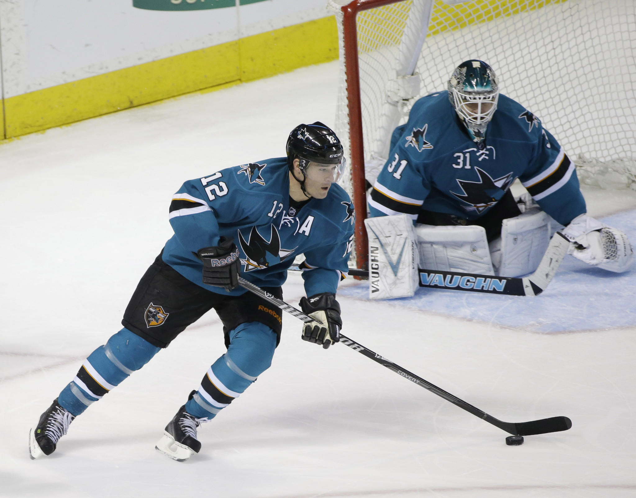 San Jose's Patrick Marleau is one of the finalists for the Lady Byng Trophy.