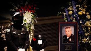 Mourners honor fallen LAPD motorcycle officer at memorial service