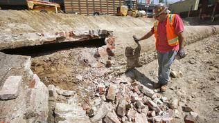 Workers find part of L.A.'s first water system