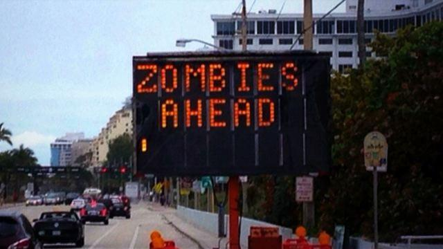 Zombies attack Fort Lauderdale beach?