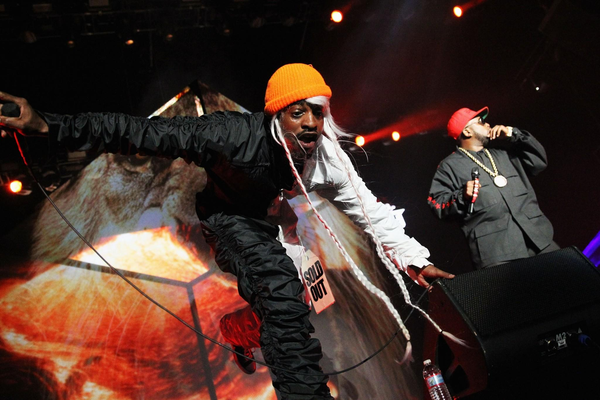 OutKast's Andre 3000, left, and Big Boi at the 2014 Coachella Valley Music and Arts Festival on April 18. The two will perform at the upcoming BottleRock in Napa, Calif.