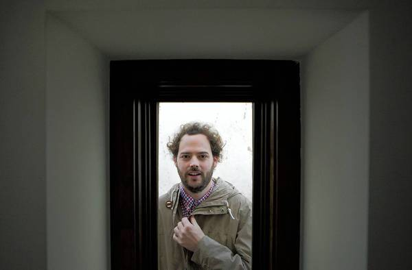 """Director Drake Doremus is shown at his Hollywood Hills home. His new film """"Breathe In"""" is a drama co-starring Guy Pearce and Amy Ryan."""
