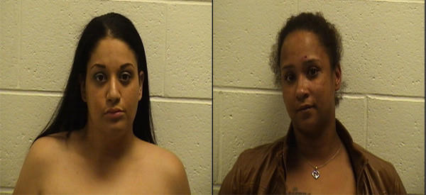 Jennifer Ramos, left, and Cherish Curtin were arrested for a domestic dispute in the same residence, but unrelated to, the death of an infant.