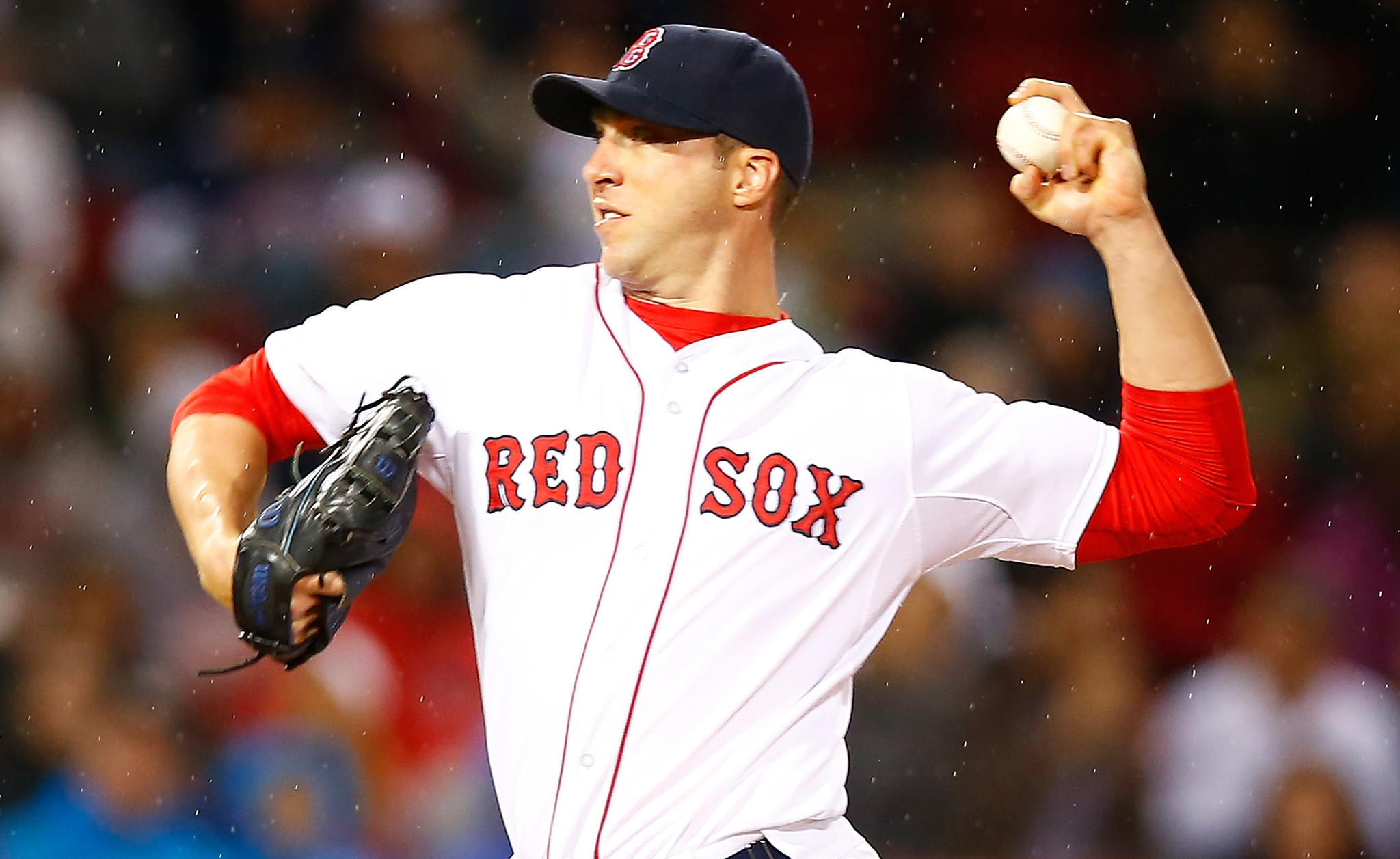 Boston Red Sox pitcher Chris Capuano delivers during a loss to the New York Yankees on Tuesday.