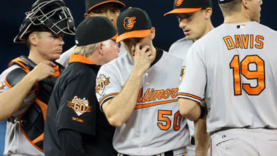 Orioles bullpen gives up six runs in 9-3 loss to the Blue Jays