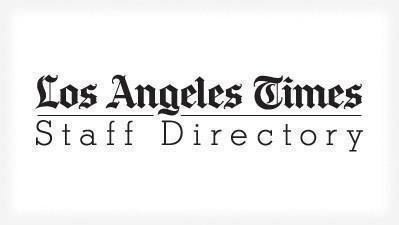 editorial staff directory la times