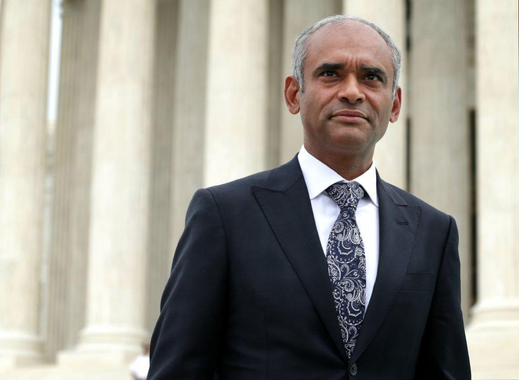 Aereo CEO Chet Kanojia outside the Supreme Court.