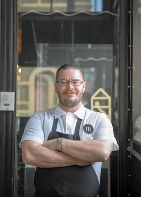 Chef/partner Jared Wentworth at Dusek's restaurant in Pilsen.