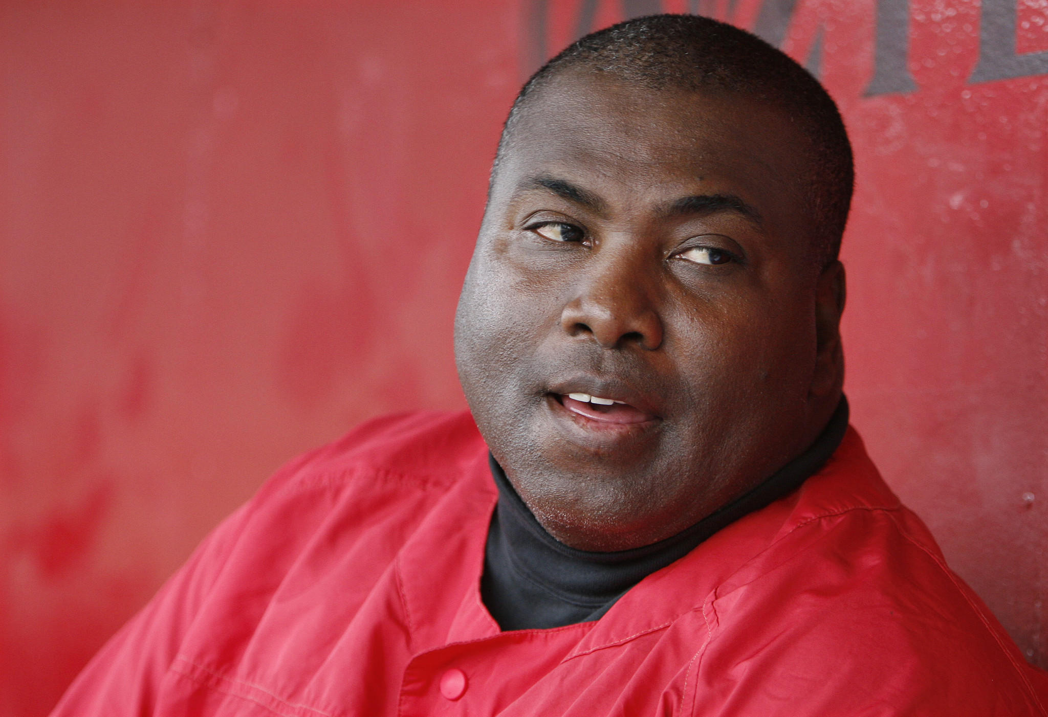 Tony Gwynn talks about San Diego State's baseball team while watching a practice session.