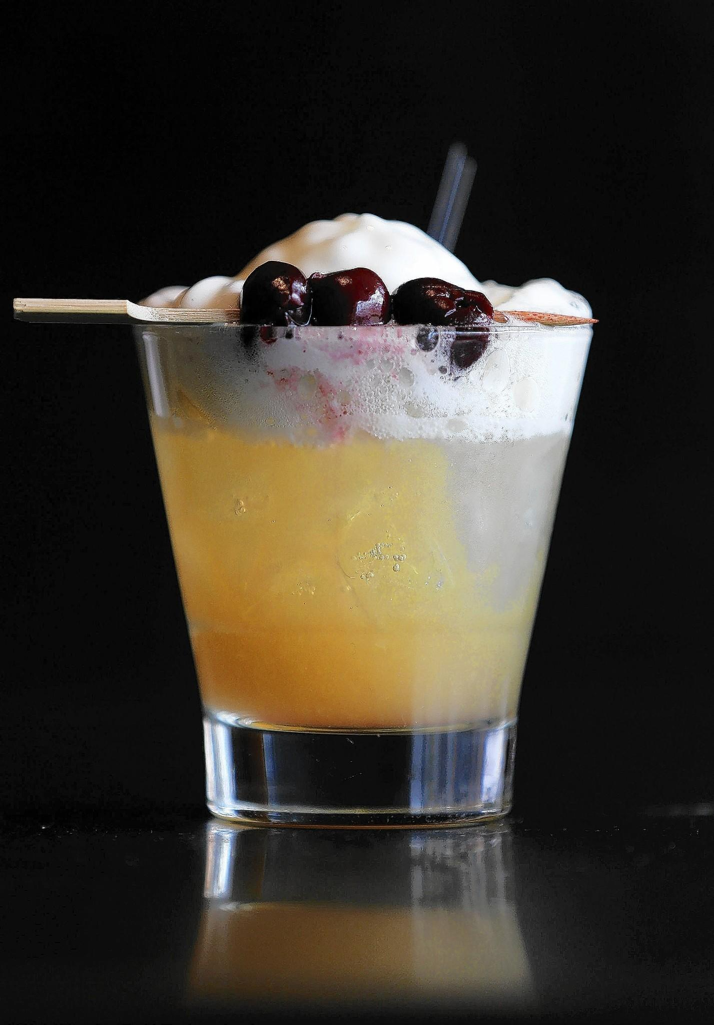 A whiskey sour from Tiny Lounge.