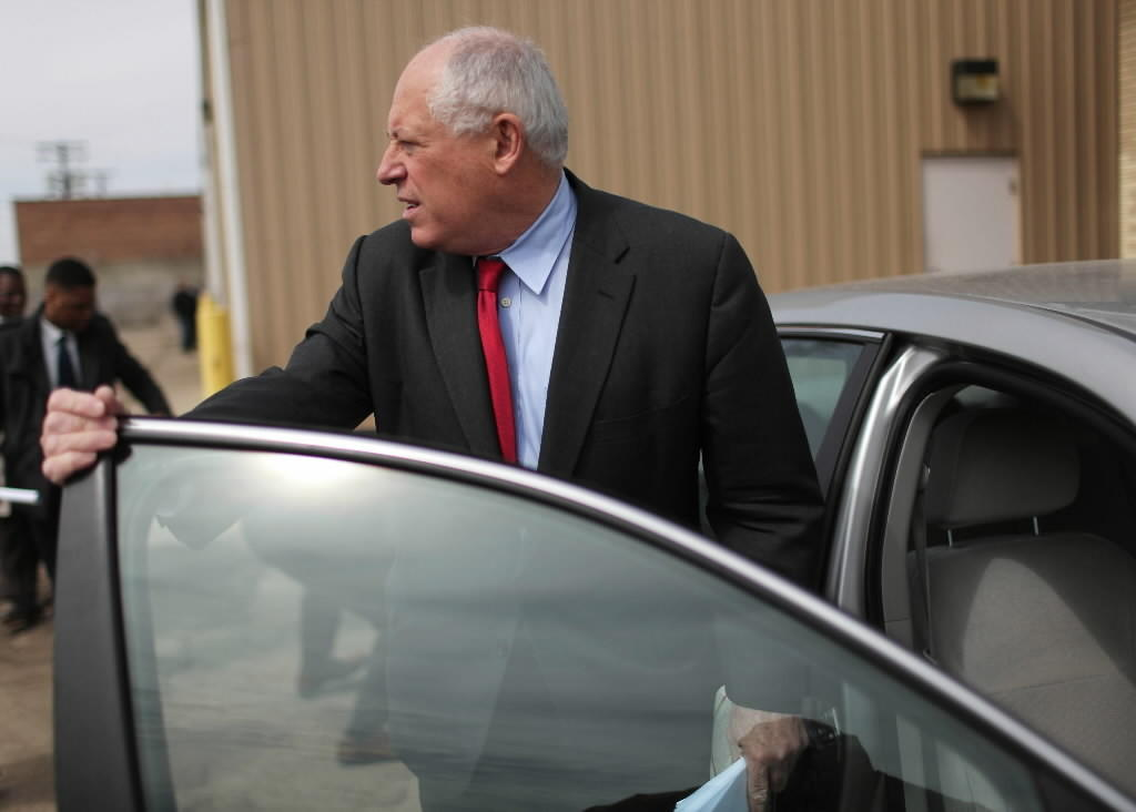 The administration of Gov. Pat Quinn, seen here earlier this month, has been taken to court over IDOT hiring.