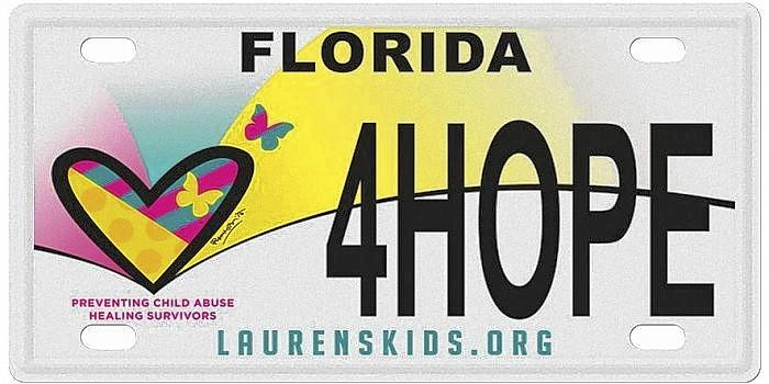 The specialty tag for Lauren's Kids became available in 2014 after the organization successfully garnered 1,000 preorders.