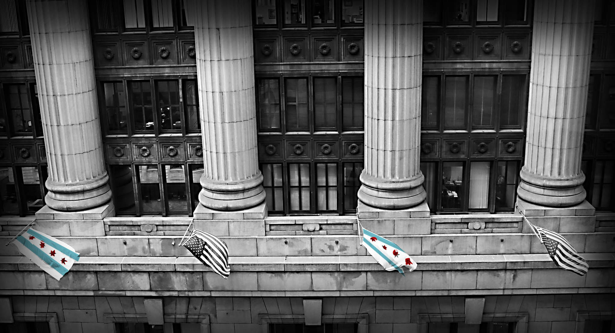 Views of Chicago's City Hall.