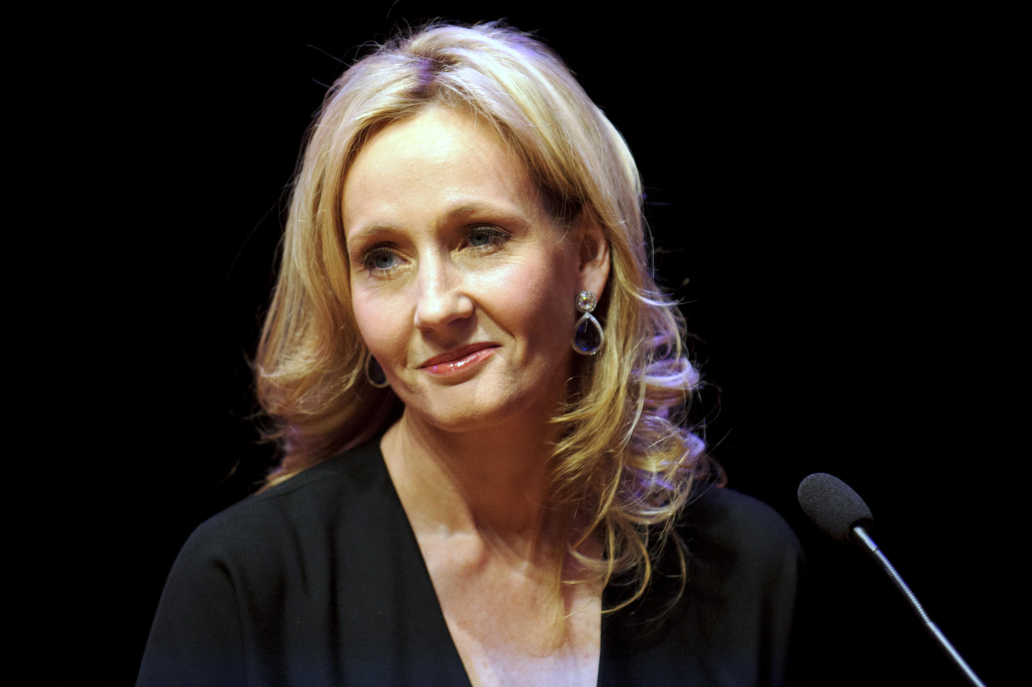 Author J.K. Rowling attends photocall ahead of her reading from 'The Casual Vacancy' at the Queen Elizabeth Hall in London, England.