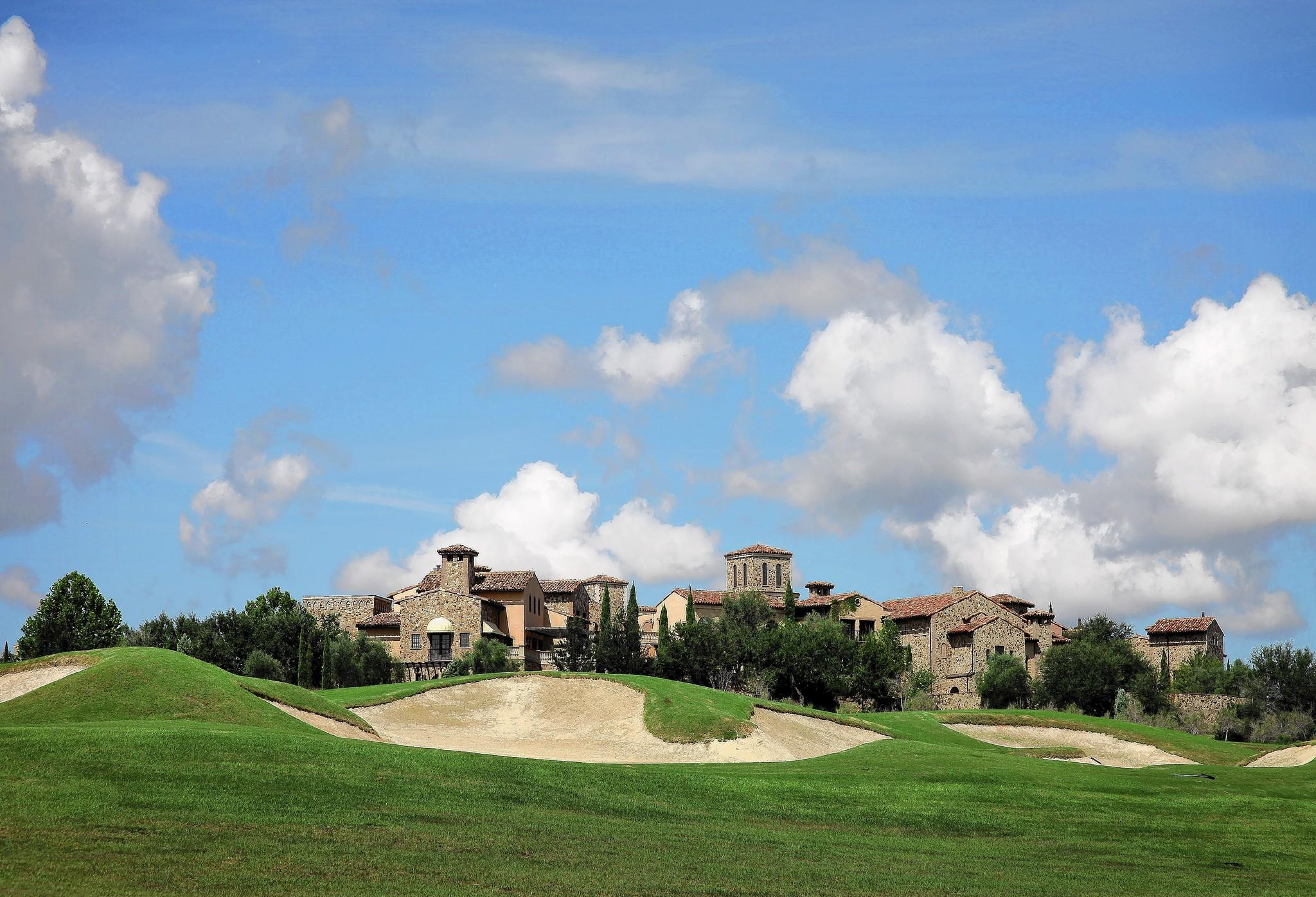 The luxurious clubhouse near the golf course inside of Bella Collina in Montverde on September 27, 2012. Empty lots surrounding homes and are abundant in the luxury home development in Lake County.