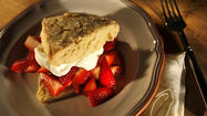 Recipe: Orange-flavored shortcakes with strawberries and cream
