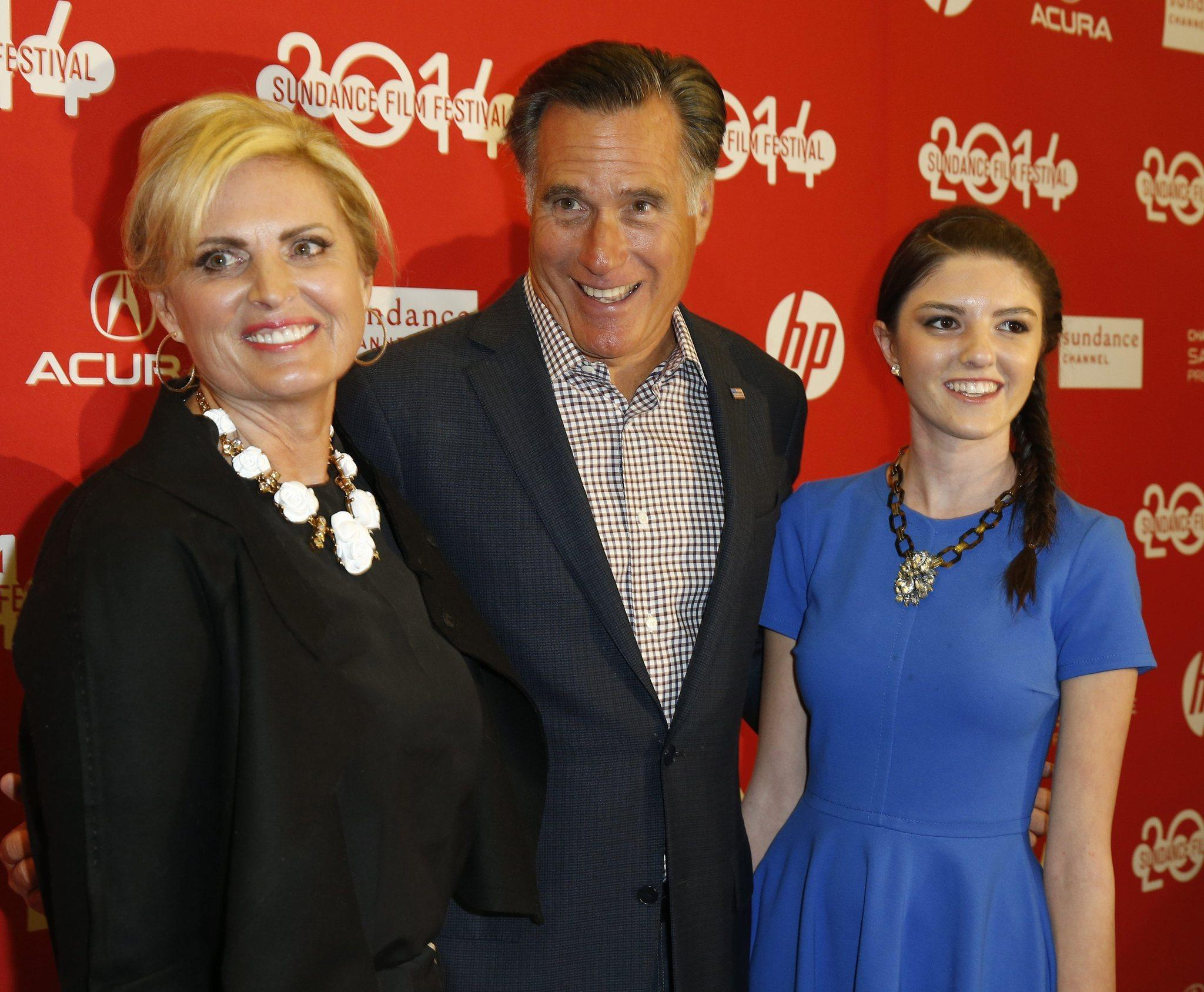 Former Republican prseidential candidate Mitt Romney, shown with his wife, Ann, and granddaughter Allie at the Sundance Film Festival, has endorsed former state legislator Tony Strickland for Congress.