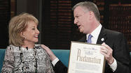 New York mayor declares May 16 'Barbara Walters Day'