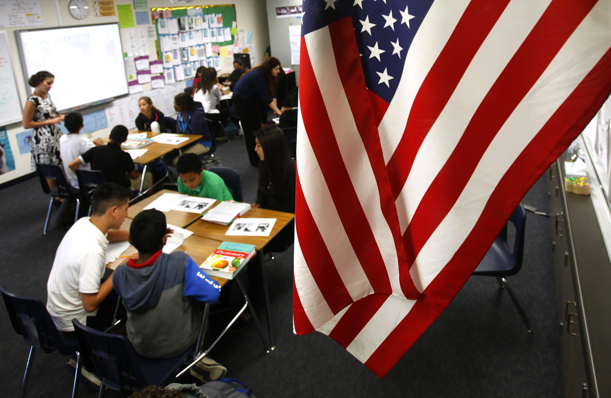 Californians support new national learning standards known as Common Core, a new survey found. In Santiago Elementary School in Santa Ana, teachers are already using the new standards to emphasize critical thinking and prepare students for more complex tests.