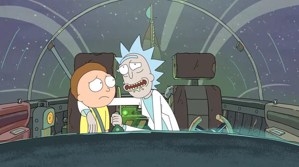 "Morty and his grandfather Rick, both voiced by creator Justin Roiland, go on epic adventures in ""Rick and Morty."""