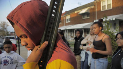 Scores turn out to mourn teenagers, decry persistent violence in Baltimore