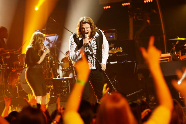 "Caleb Johnson performs Carrie Underwood's ""Undo It"" on ""American Idol."""