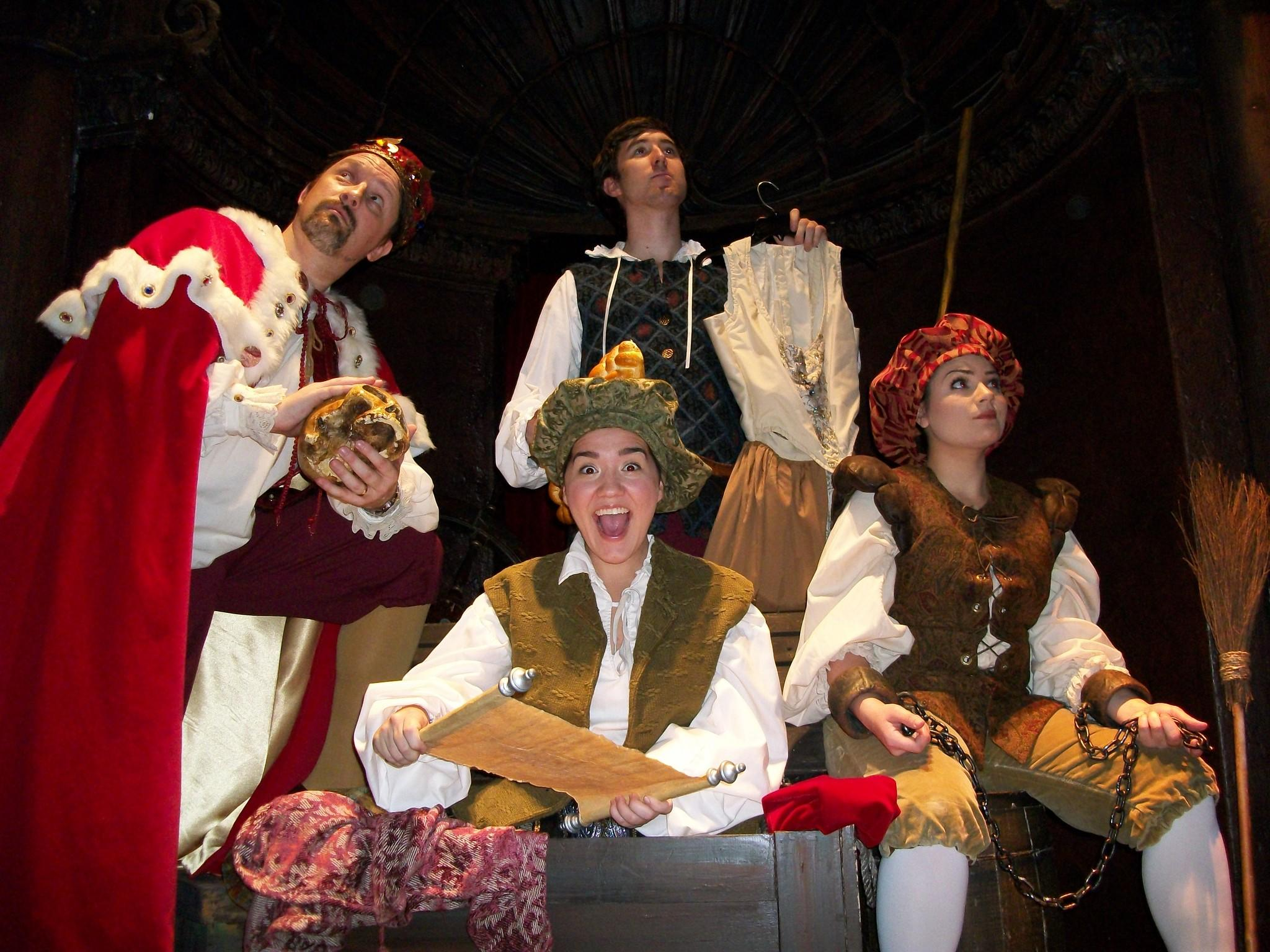 David Charles (clockwise from left), Taylor Sorrell, Ricci Prioletti and Alex Feliciano are part of the 'Lost Comedies of William Shakespeare' troupe.