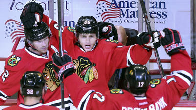 Patrick Kane nets game-winner in overtime