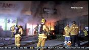 Fire Damages Granada Hills Barber Shop